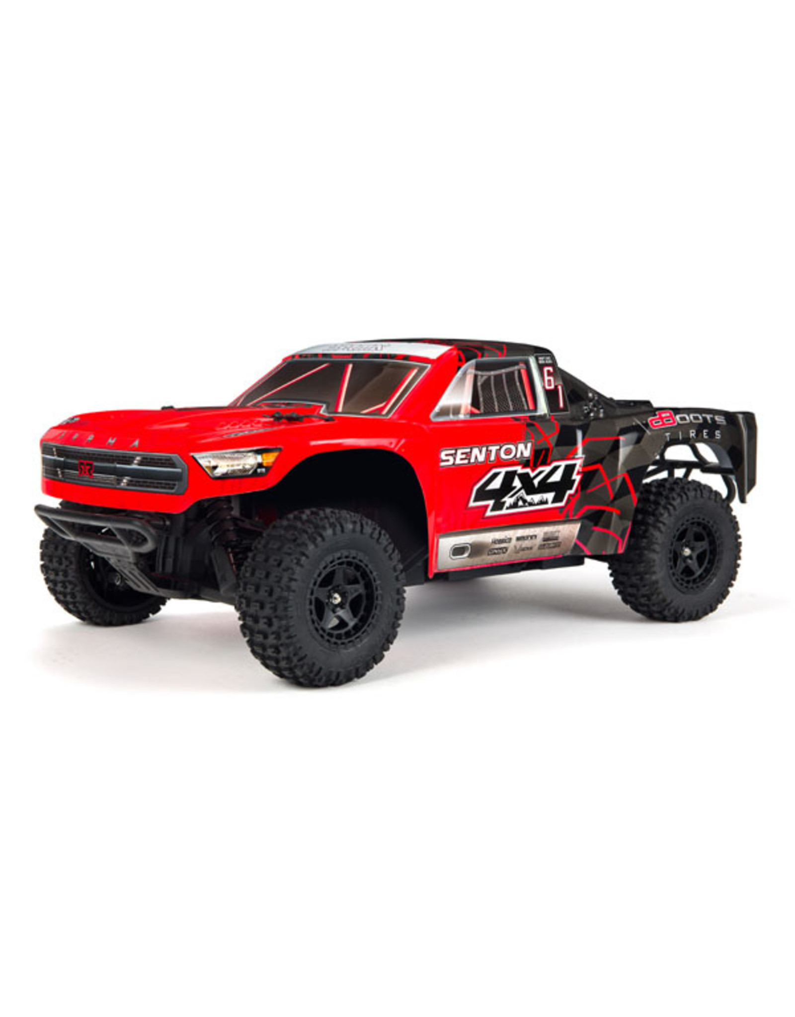 Arrma 1/10 SENTON 4x4 Mega SC Brushed Truck RTR, Red/Black (AR102715T1)