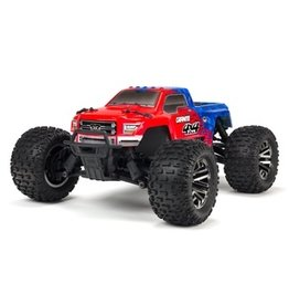 Arrma 1/10 GRANITE 4x4 3S BLX Brushless Monster Truck RTR, Red/Blue (AR102720T2)
