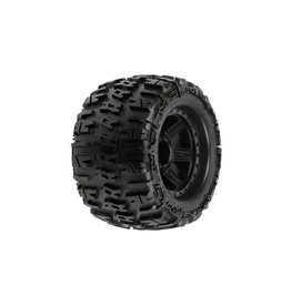 Pro-Line Racing Trencher 3.8 TRA Mnt Desperado 1/2Off 17mm Whl,Blk (118411)