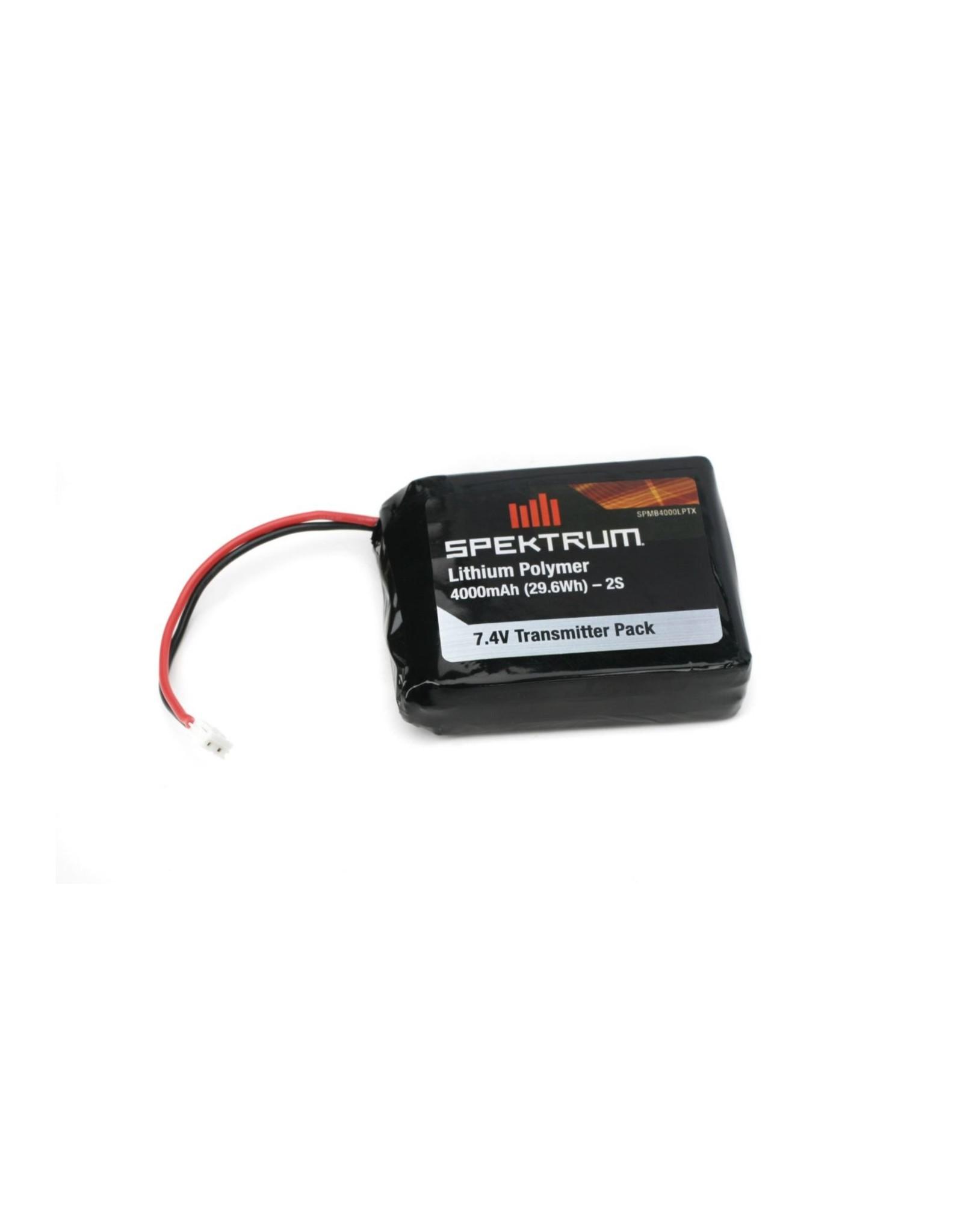 Spektrum 4000mAh LiPo Transmitter Battery: DX8, DX9