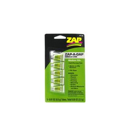 Pacer Technology Zap-A-Gap Single Use Tubes, 5 x 1/2 g, Carded  (PAAPT105)