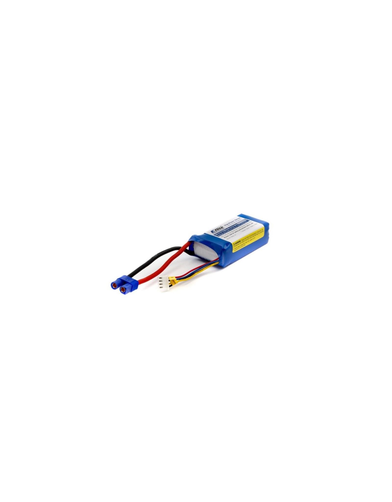Eflite 1300mAh 3S 11.1V 20C LiPo: EC3  (EFLB13003S20)