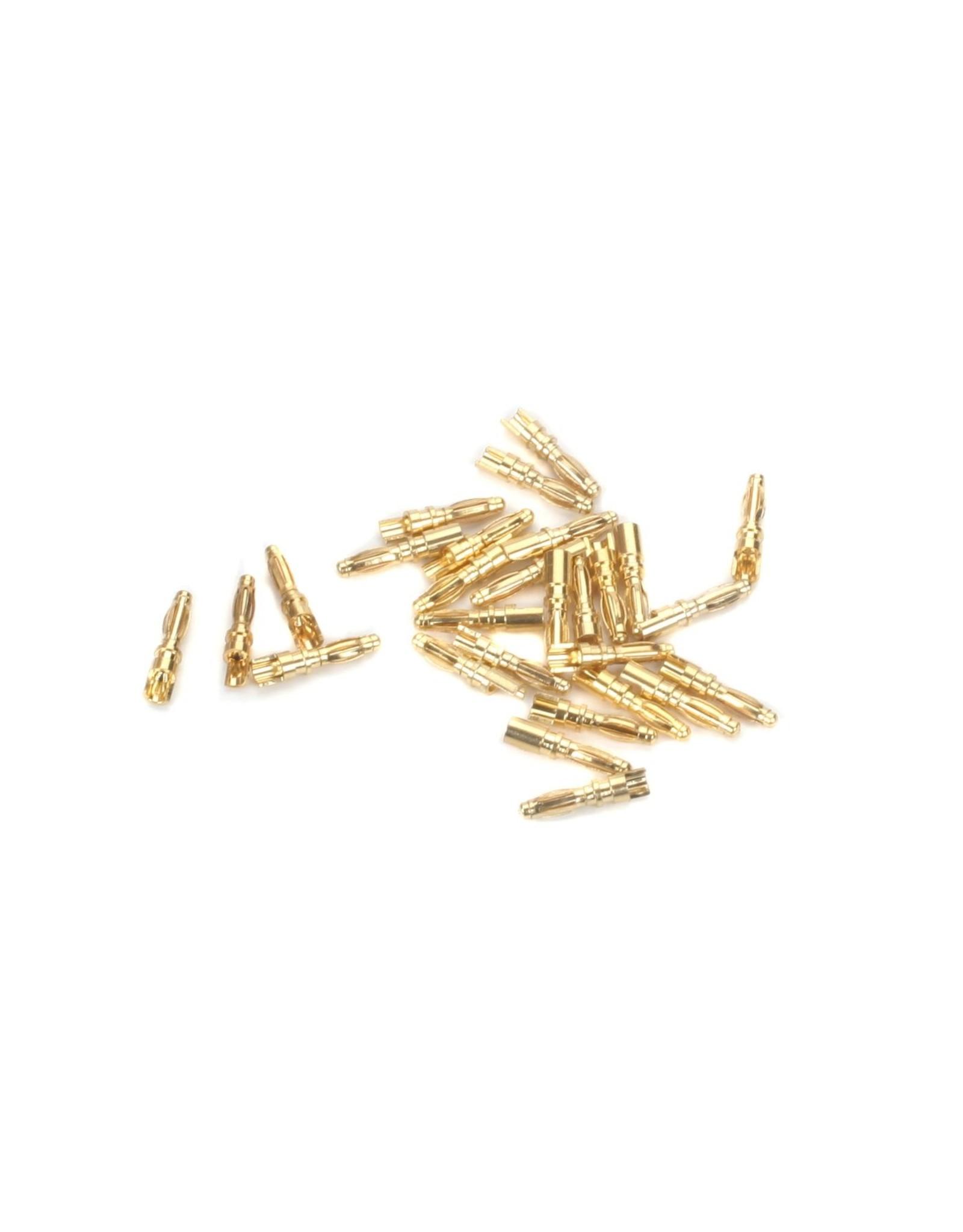 Eflite Gold Bullet Connector, Male, 2mm (30)