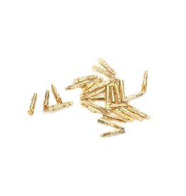Eflite Gold Bullet Connector, Male, 2mm (30)