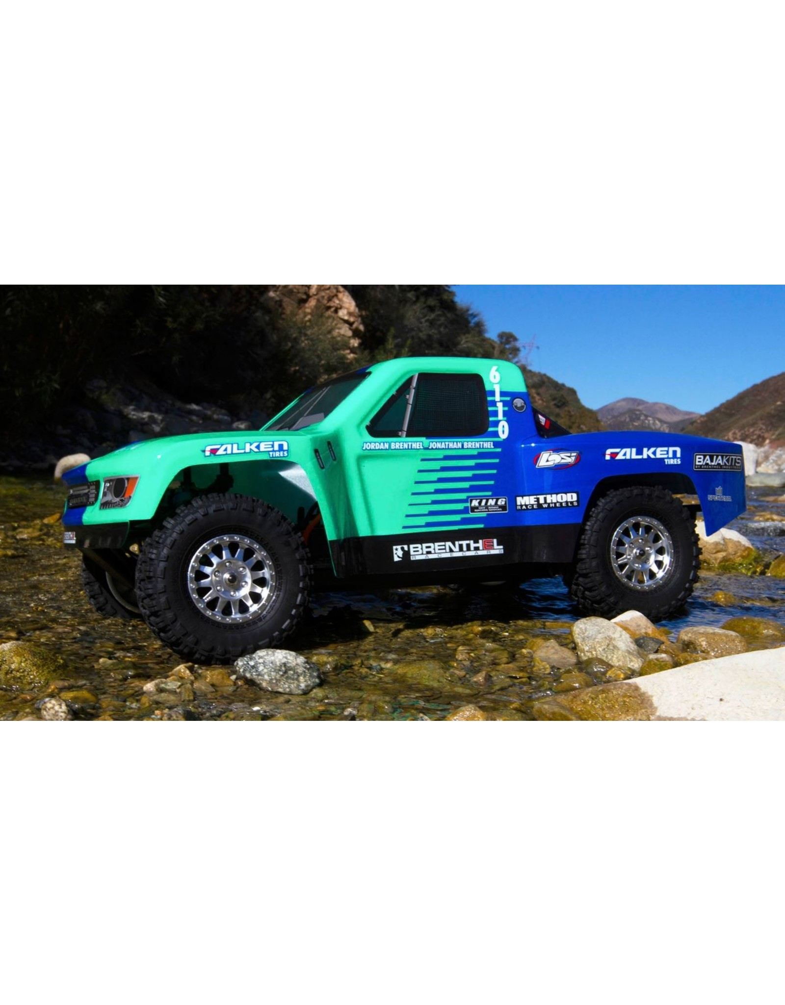 Losi 1/10 TENACITY TT Pro 4WD SCT Brushless RTR with Smart, Falken (LOS03019T2)