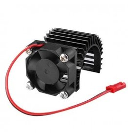HobbyStar HEATSINK /SIDE-MOUNT BRUSHLESS FAN FOR 540/550 MOTOR, BLK (380-15-051)