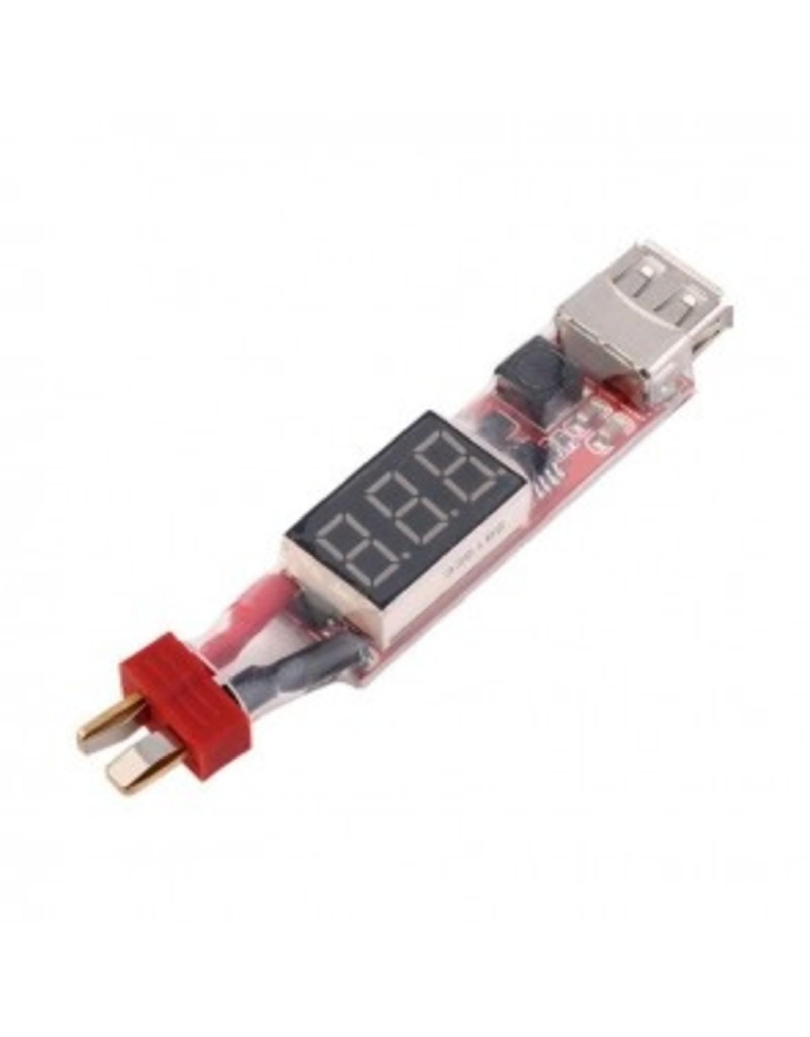 HobbyStar HOBBYSTAR LIPO TO USB POWER CONVERTER, DEAN'S  (420-19-053)