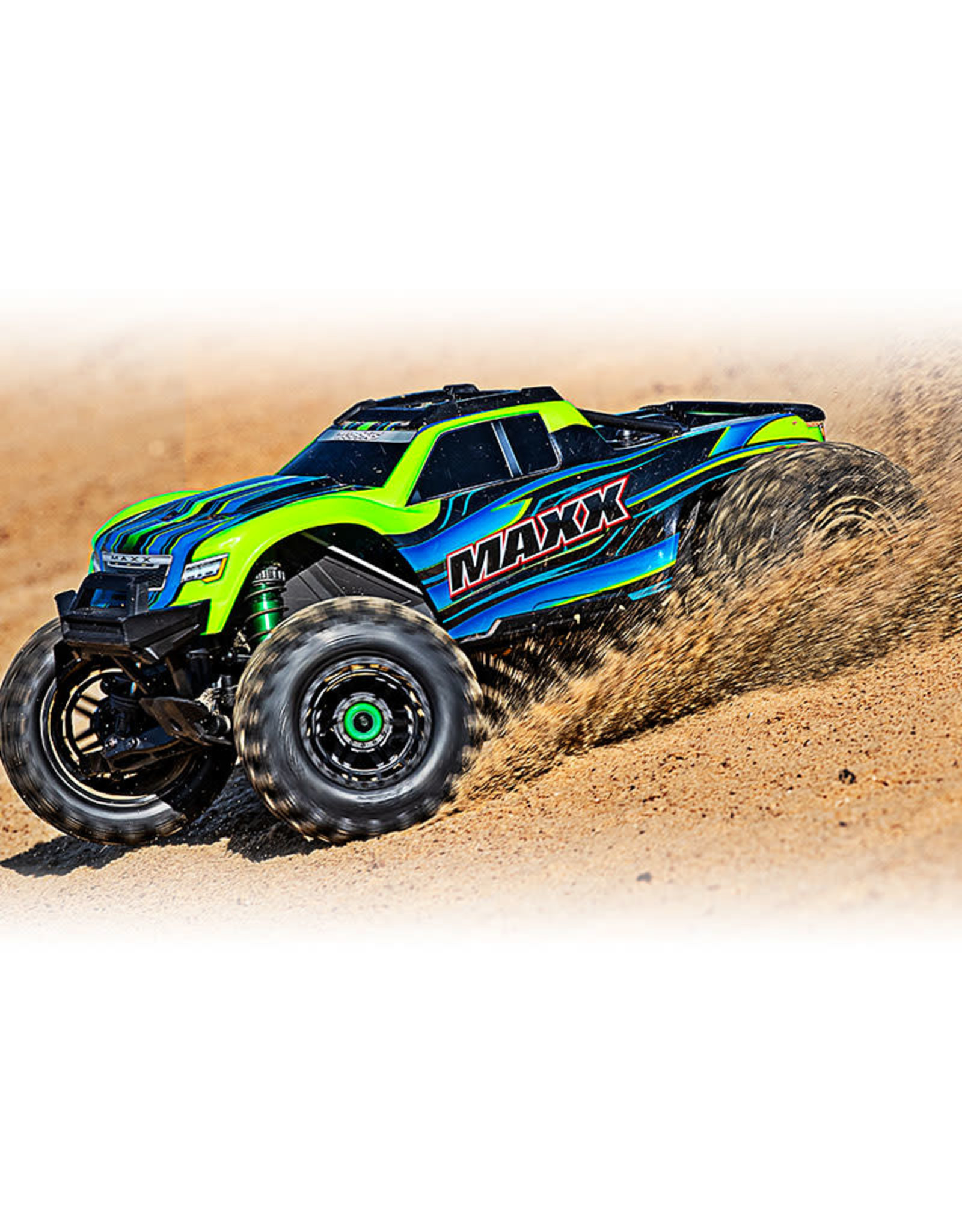 Traxxas Maxx: 1/10 4WD 4S-Capable Brushless Truck (GREEN)(89076-4)