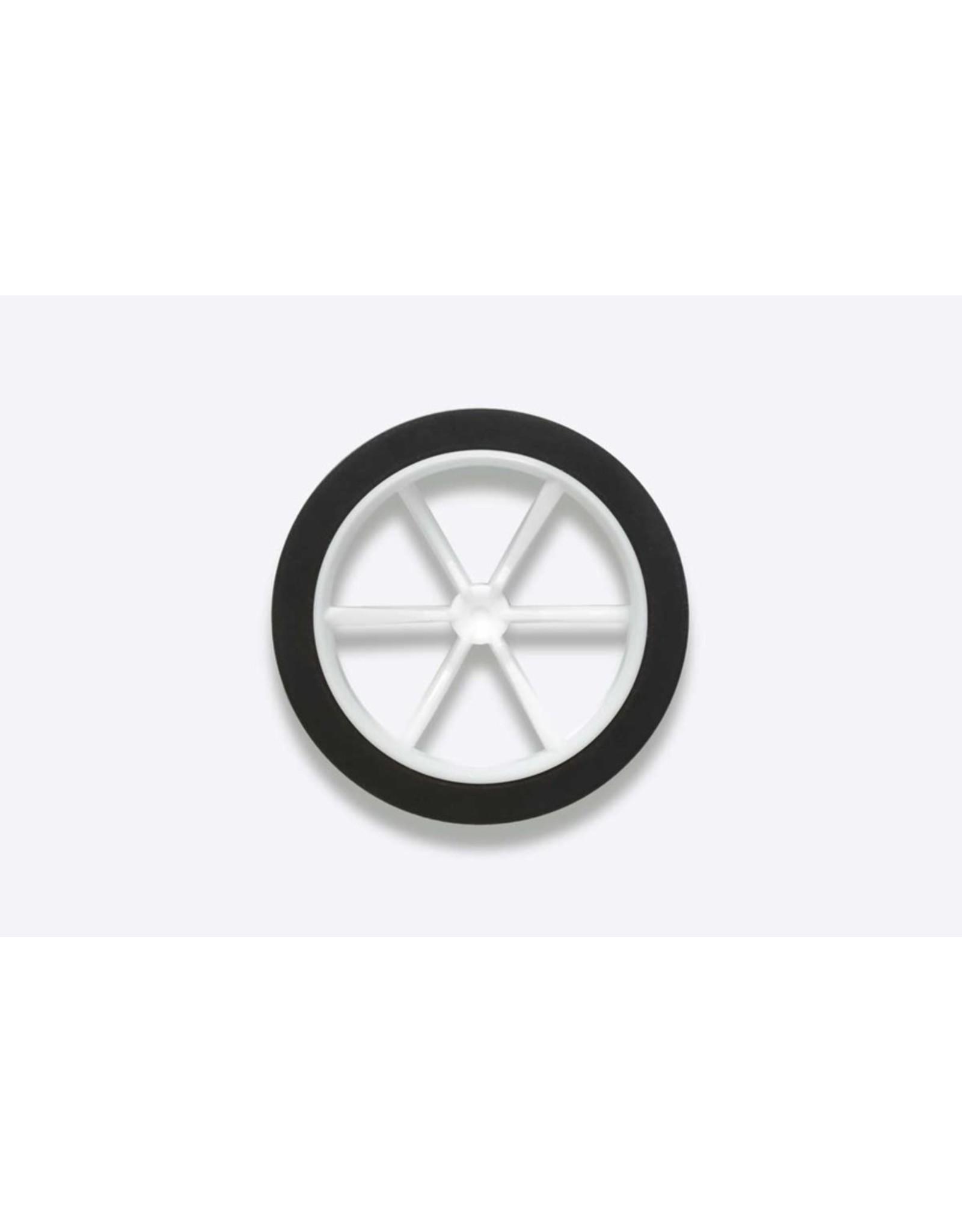 Tamiya Jr Lg Dia Lp Tires/6-Sp Wheels  (TAM15511)