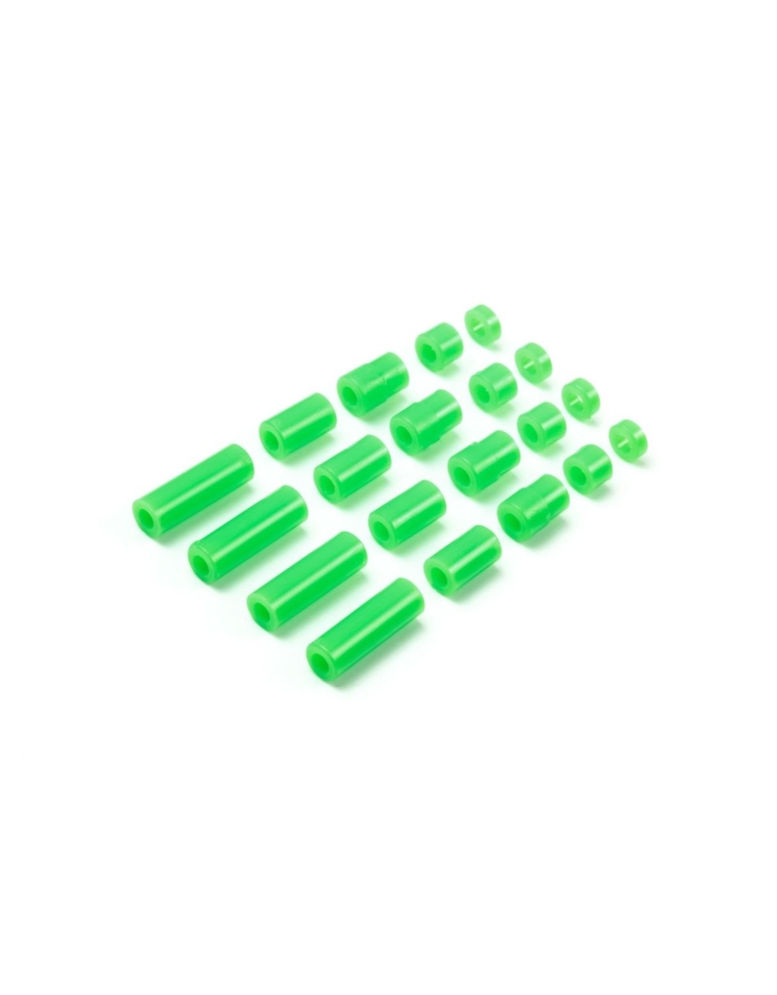 Tamiya JR LW Plastic Spacer Set - 12/6.7/6/3/1.5mm (Green)  (TAM95443)