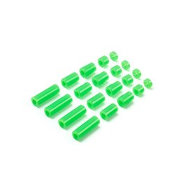 Tamiya JR LW Plastic Spacer Set - 12/6.7/6/3/1.5mm (Green)  (TAM95443)