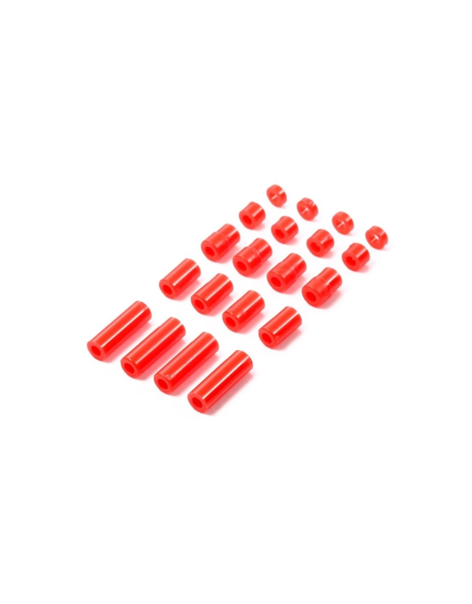 Tamiya JR LW Plastic Spacer Set - 12/6.7/6/3/1.5mm (Red)  (TAM95400)