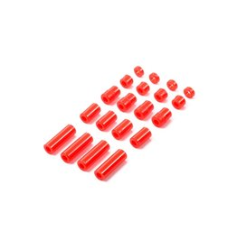 Tamiya JR LW Plastic Spacer Set - 12/6.7/6/3/1.5mm (Red)  (TAM95400)