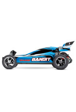 Traxxas 1/10 Bandit 2WD Brushed (BLUE): No Battery, No Charger