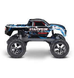 Traxxas 1/10 Stampede 2WD Brushed (BLUE): No Battery, No Charger