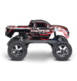 Traxxas 1/10 Stampede 2WD Brushed (RED): No Battery, No Charger