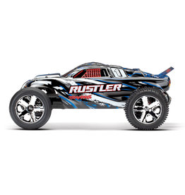 Traxxas 1/10 Rustler 2WD Brushed (BLUE): No Battery, No Charger