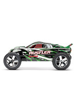 Traxxas 1/10 Rustler 2WD Brushed (GREEN): Includes Battery with DC Charger