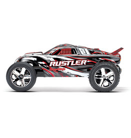 Traxxas 1/10 Rustler 2WD Brushed (RED): Includes Battery with DC Charger