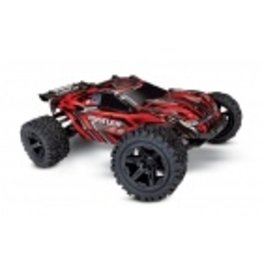 Traxxas 1/10 Rustler 4x4 Brushed (RED): Includes Battery with DC Charger