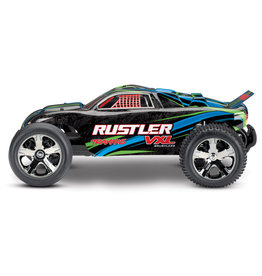 Traxxas 1/10 Rustler VXL 2WD Brushless (GREEN): No Battery, No Charger