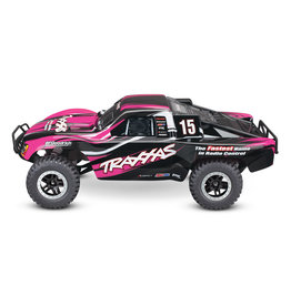 Traxxas 1/10 Slash 2WD Brushed (PINK): Includes Battery with Charger