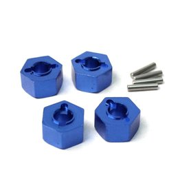 Racers Edge Slash 4WD Aluminum Drive Hex Set (4) - Blue