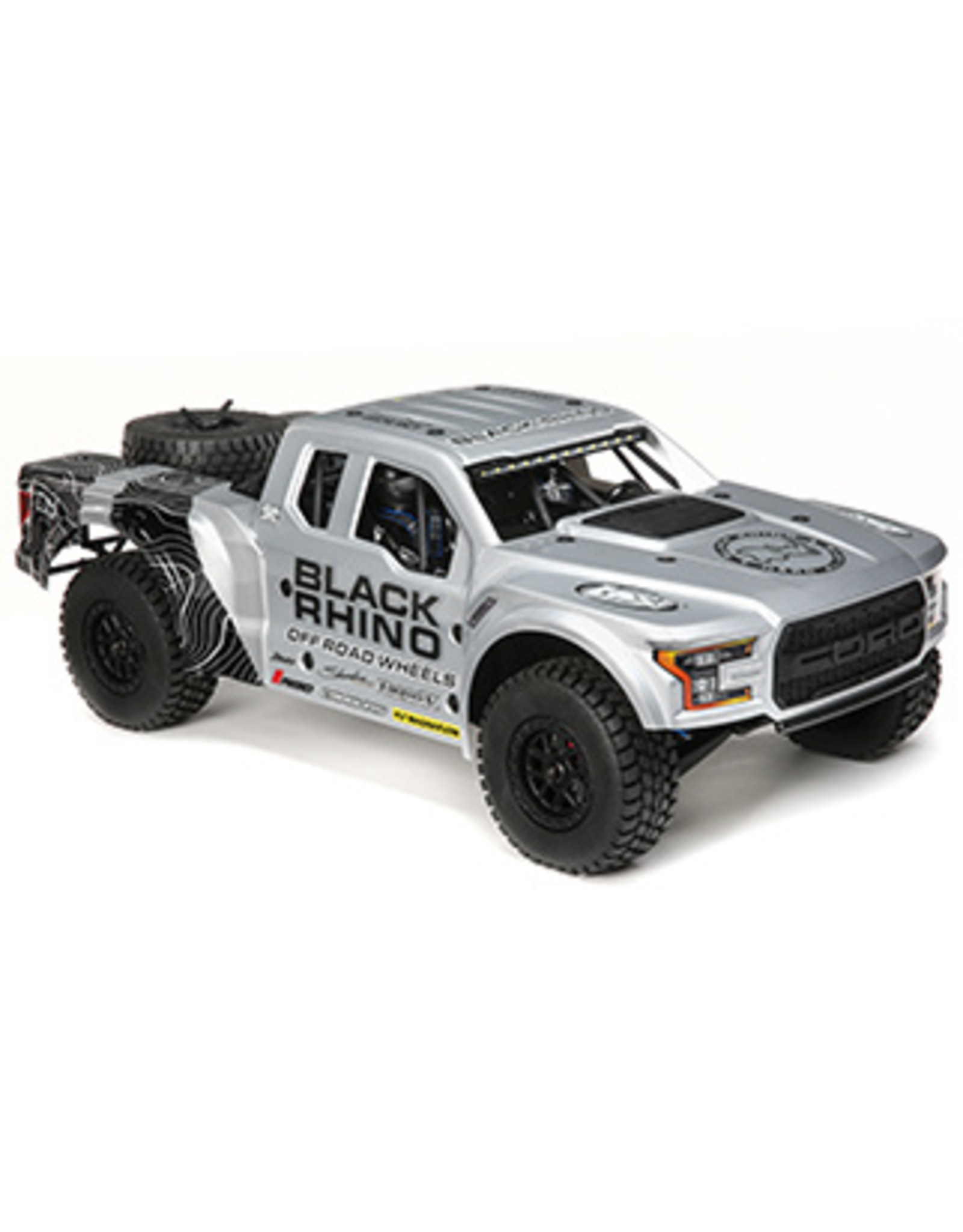 Losi 1/10 Ford Raptor Baja Rey 4WD Black Rhino Brushless RTR, King Shocks