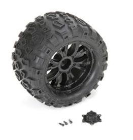 Losi Wheel and Tire Mounted (2): TEN MT  (LOS43010)