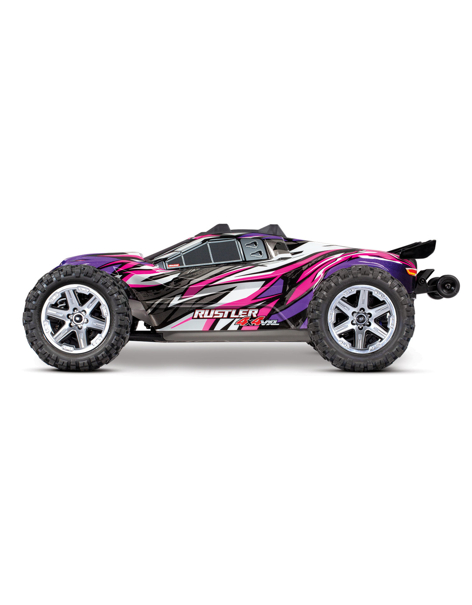 Traxxas 1/10 Rustler 4x4 VXL Brushless (PINK): No Battery, No Charger (67076-4)