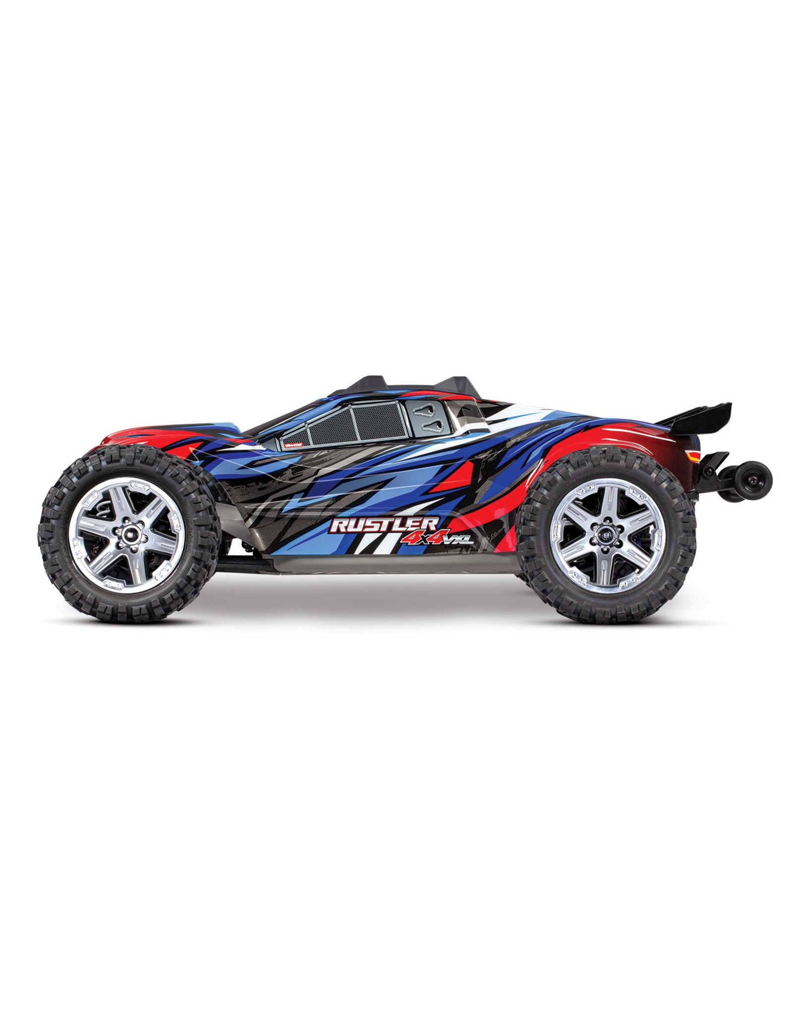 Traxxas 1/10 Rustler 4x4 VXL Brushless (BLUE): No Battery, No Charger (67076-4)