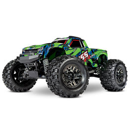 Traxxas HOSS: 1/10 4WD 3S-Capable Brushless Monster Truck (GREEN)(90076-4)
