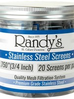 """420 Stainless Steel Pipe Screen 0.812"""" 20pack"""