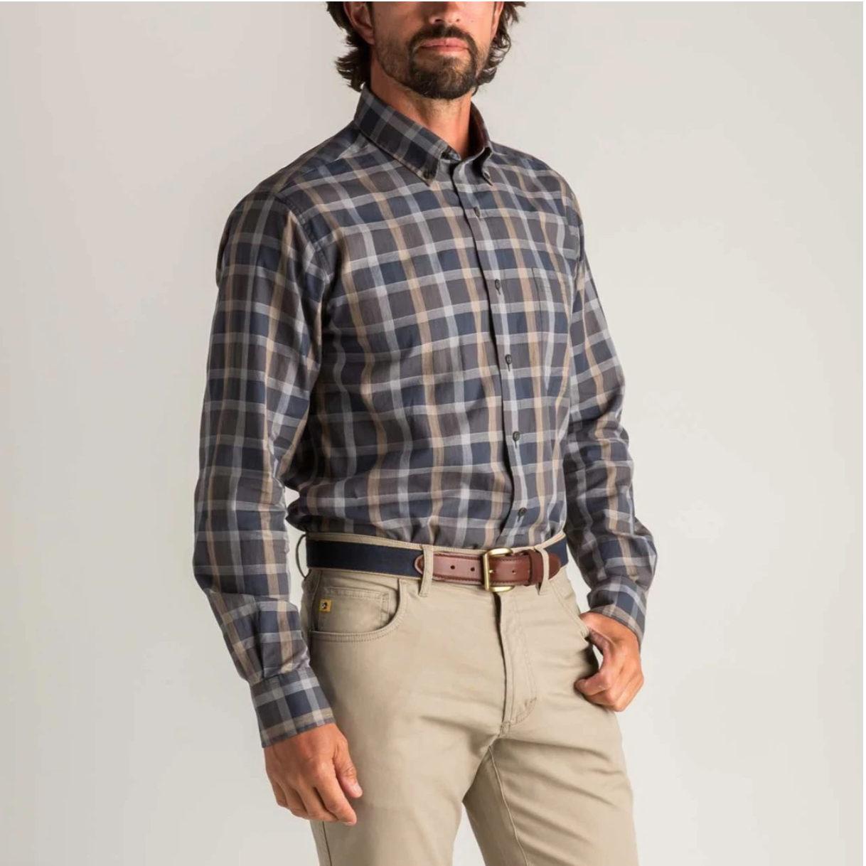 Duck Head Astor Herringbone Plaid Shirt