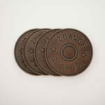 Clayton and Crume 12 Gauge Coasters