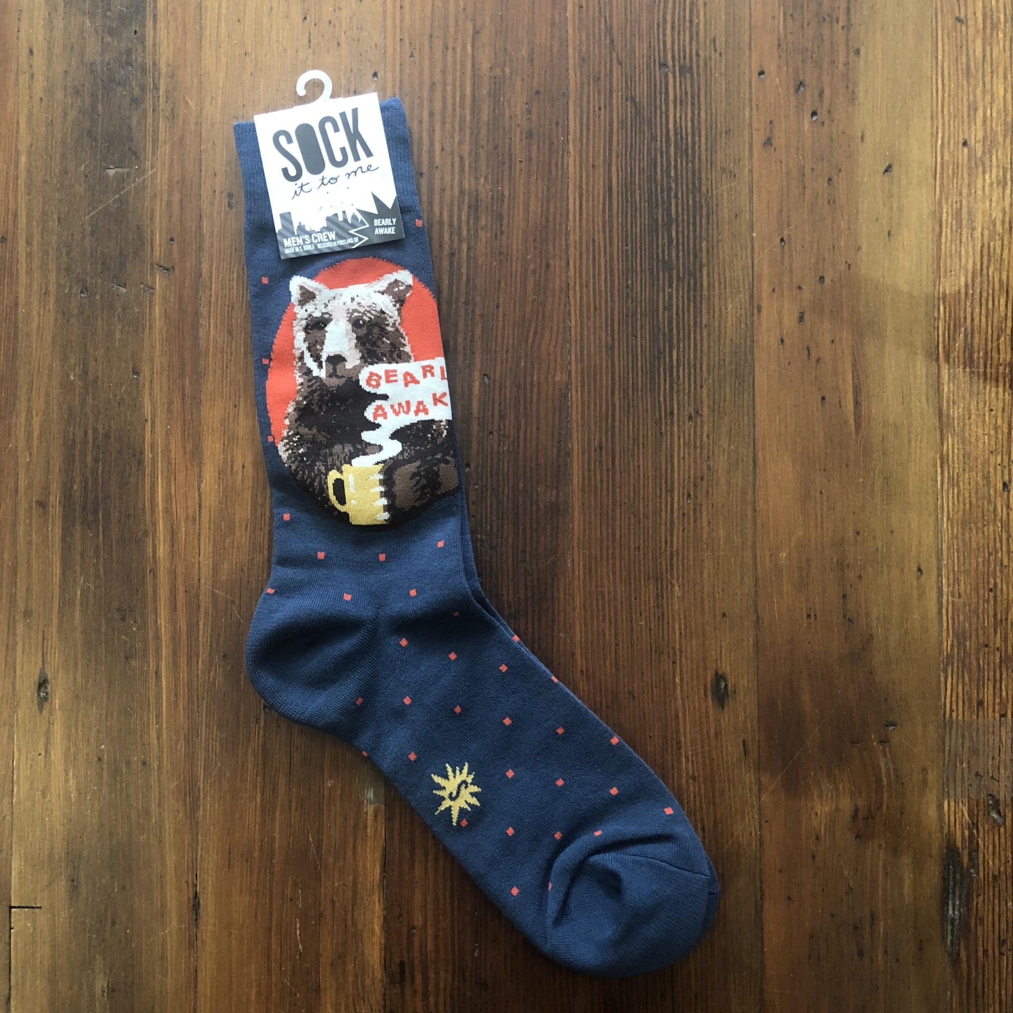 Sock It To Me Adult Bearly Awake Crew Socks