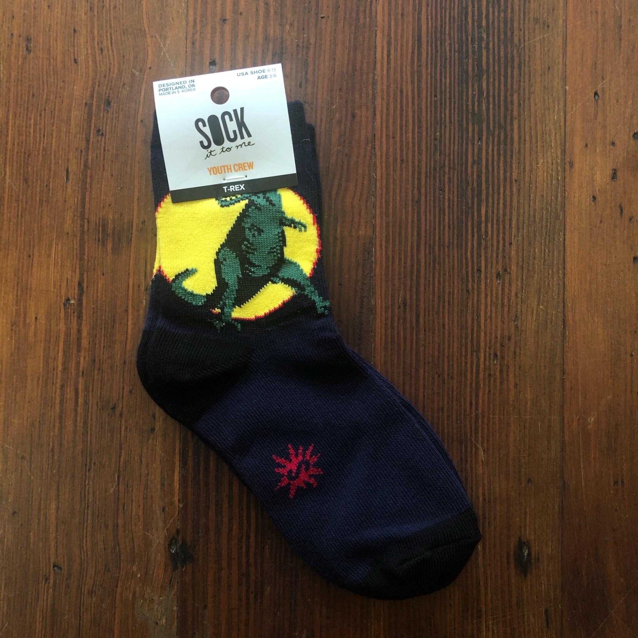 Sock It To Me Kids' T-Rex Crew Socks