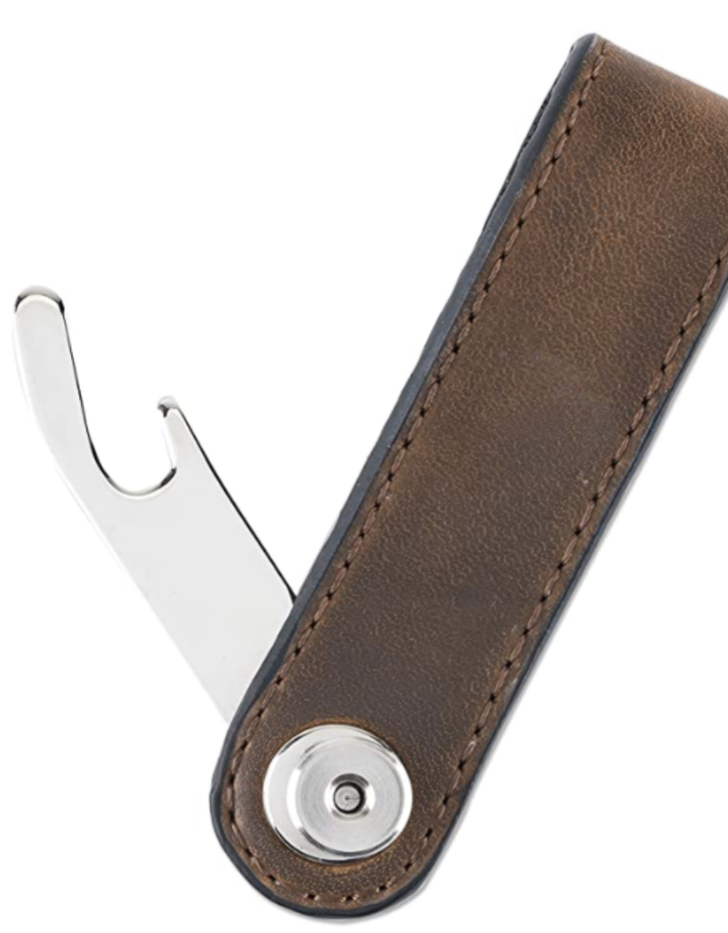 Foster & Rye Brown Leather Key Holder Bottle Opener