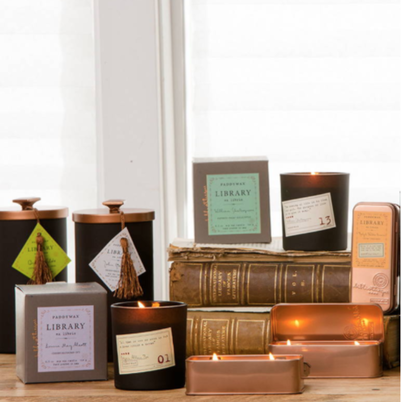 Paddywax Library Candle Series