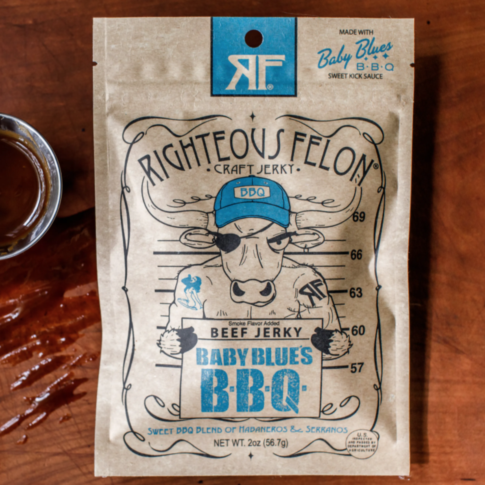 Righteous Felon Baby Blues BBQ Jerky