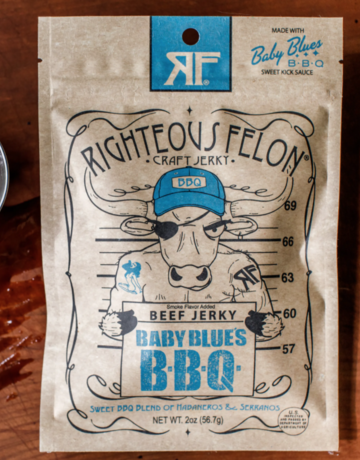 Righteous Felon Baby Blues BBQ Jerky