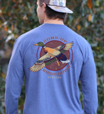 "Burlebo ""Sun's Up, Birds Down"" LS T-shirt"