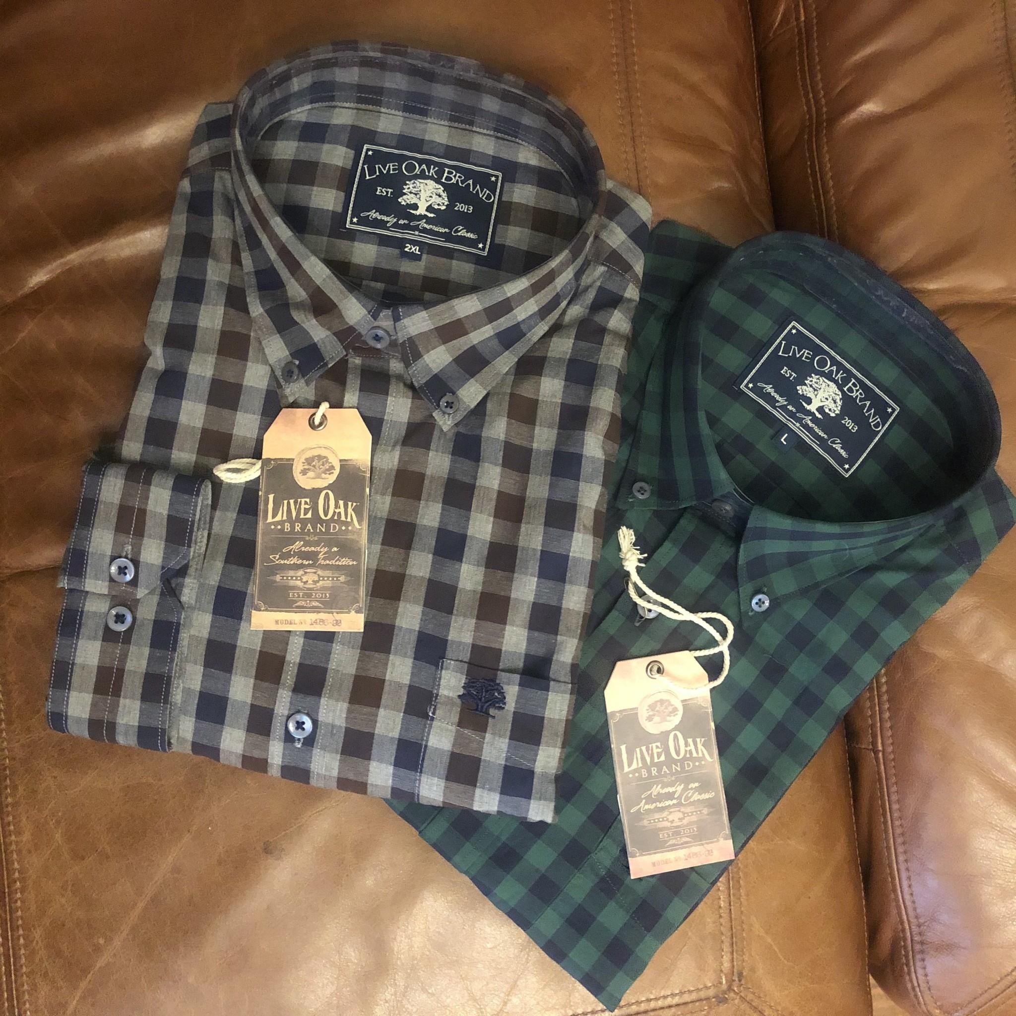 Live Oak Live Oak Brushed Cotton Button Down