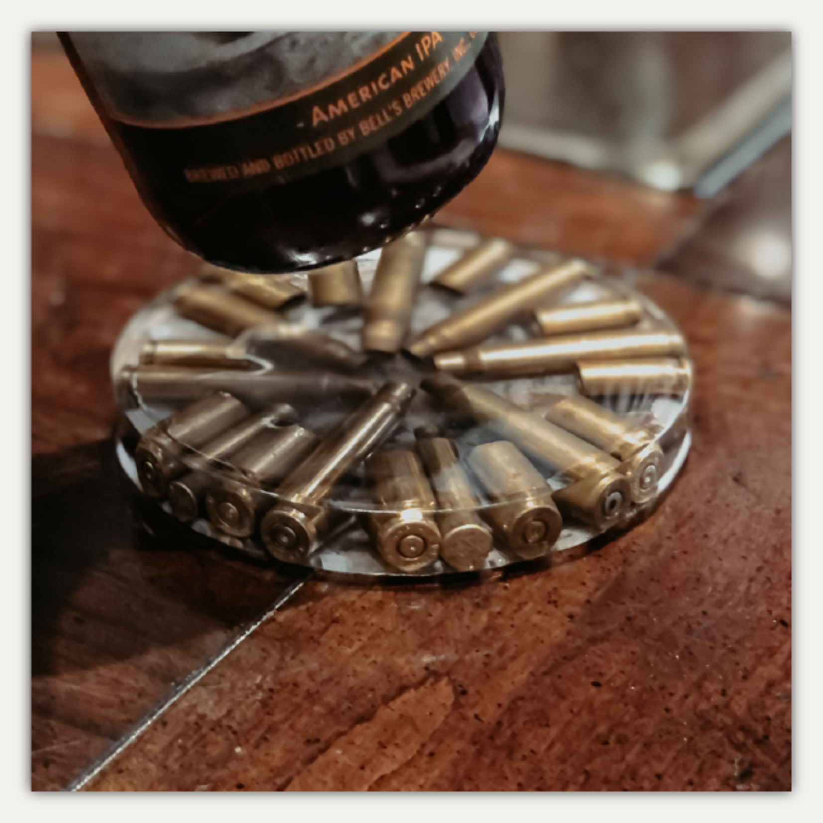 Guild and Gentry Bullet Resin Coaster Set (4)