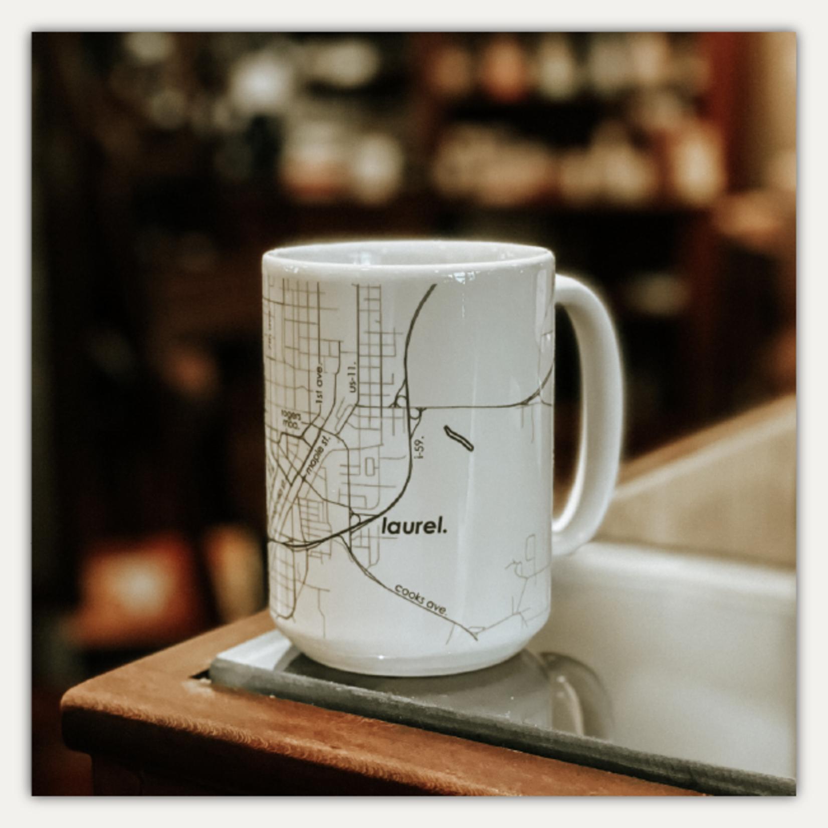 Well Told Laurel Map 15 oz Ceramic Mug