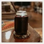 Clayton and Crume Monogrammed Leather Can Cooler