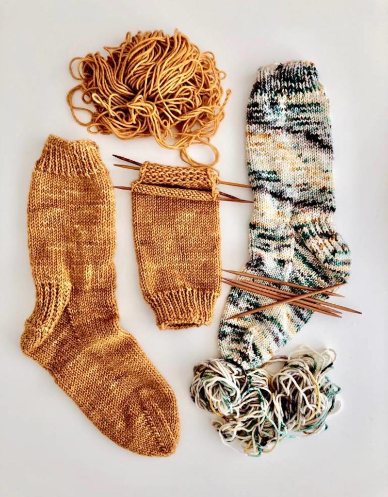 Class Learn to Knit Top Down Socks Thur. Nov. 15/22/29