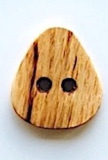 Triangle wood button, handcrafted locally