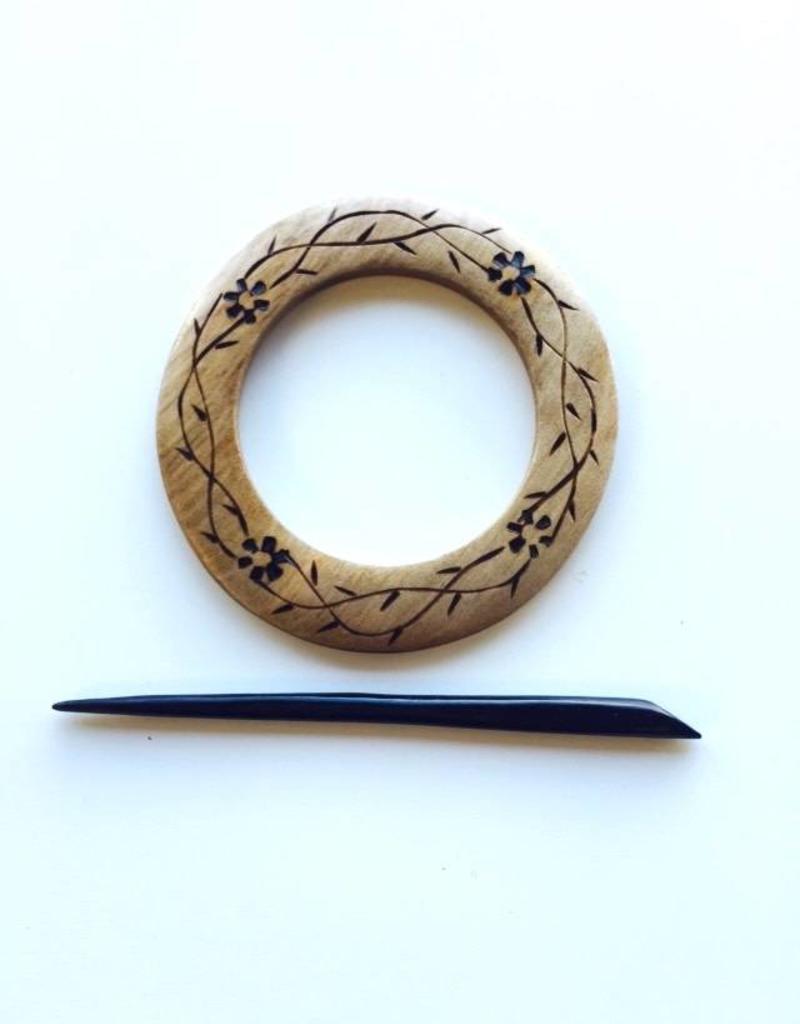 Round Shawl Pin