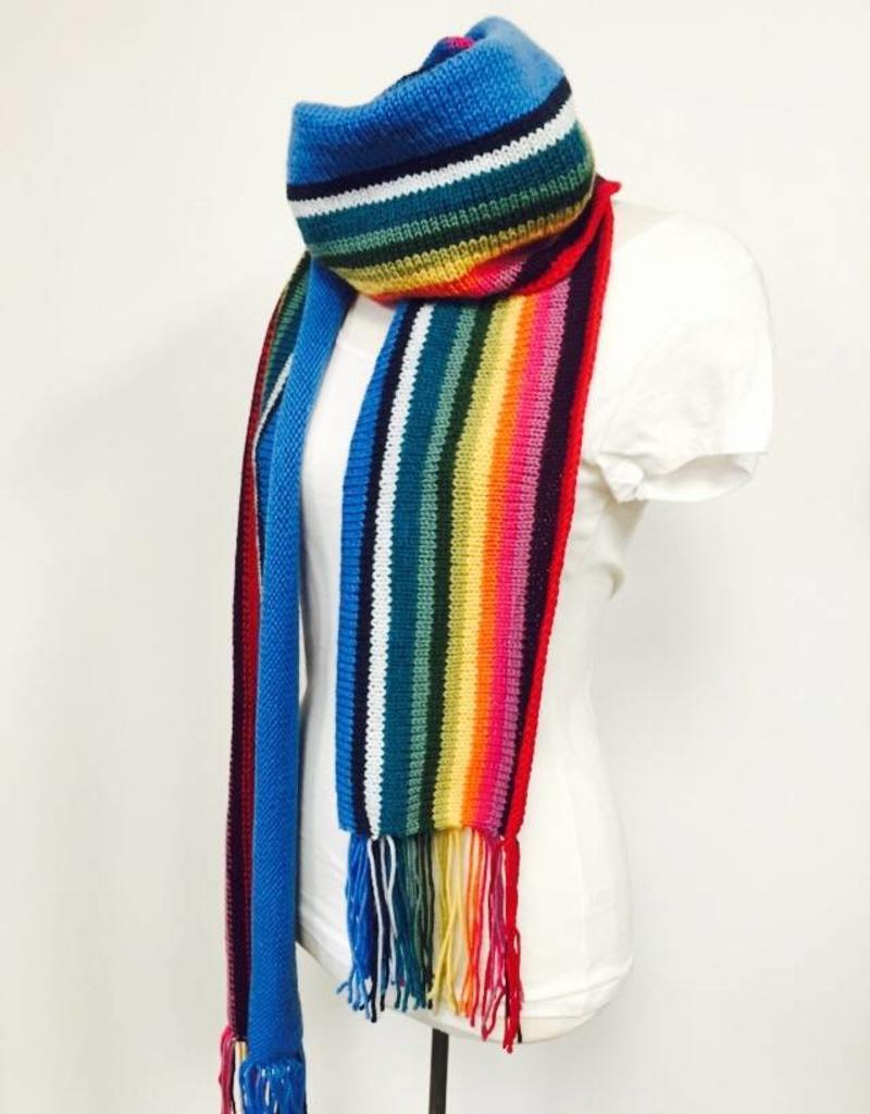 Spun Fibre 13th Doctor Who Scarf  (Knit version)